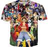 Hot New Fashion Women/Men Anime One Piece 3D Print Casual T-Shirt TK287