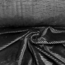 Schwarz mit Streifen Struktur Kunstfell Meterware Jacke Decke Webpelz NB3068