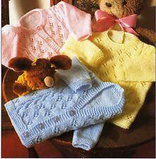 "4208 Vintage Baby Knitting Pattern Girls Boys Cardigans DK 16-24"" 0 - 4 years"