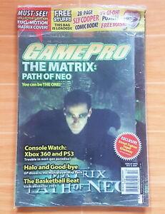 GamePro Magazine Issue #205 (October 2005) NEO The Matrix LENTICULAR 3D COVER