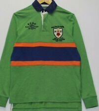 Polo Ralph Lauren Green Rugby  Men Shirt L Large  Custom Fit