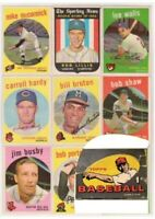 1959 Topps  Cards 1-275  Complete your Set  VG/EX-NM