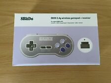 8 bitdo-Super Nintendo SNES Famicom SN30-Controller Wireless 2.4 GHZ-NUOVO