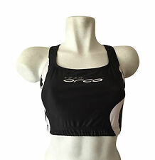 new women's genuine Team Orca tri top size 14 front double lined triathlon black