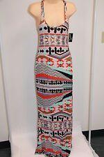 NWT Volcom Swimsuit Bikini Cover Up Maxi Dress Size L Multi