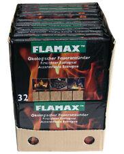BIO-Kohleanzünder FLAMAX 24 Pack = 768 Stück Grillanzünder ÖKO Feuer-Anzünder