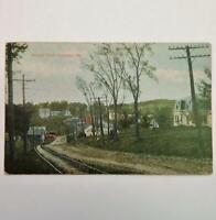 Antique Postcard View of Bangor Road Hampden Maine