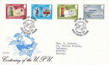 JERSEY 7 GIUGNO 1974 Unione Postale Universale primo giorno di copertura SHS