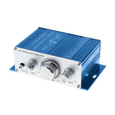 Hi-Fi Bass Tuning 12V Mini Auto Car Stereo Amplifier 2 Channel Audio Subwoofer$T