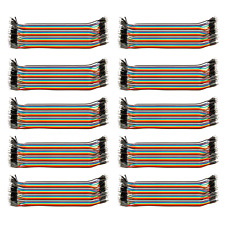 "10x 8"" 40-Wire (400 Jumper Wires) Male-Male; 40 40P Color Wires Ribbon Cable USA"