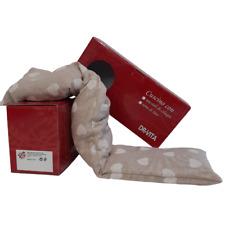 Cuscino per cervicale con semi di lino Scaldacollo 58x12cm - Cuori Bianchi