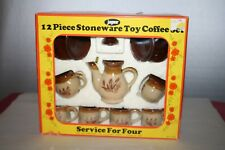 Jaymar 12 Piece Stoneware Toy Coffee Set Service for 4 Original box #7042