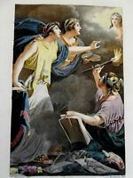 Allegorical Frontispiece Muses Artist Painting Portrait 1802 lovely print