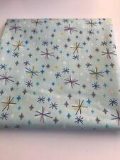 Lewis & Irene, Retro Stars on Mint, 100% Cotton Fabric, Fat Quarter, Patchwork