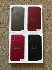 100% Genuinos Auténticos-NUEVO Apple iPhone X/10 Leather Folio caso-dos colores