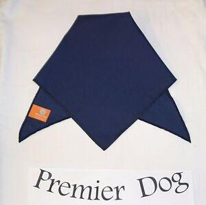 Plain Navy Blue Dog Bandana / Scarf - 3 sizes to choose from!