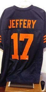Chicago Bear Alshon Jeffery Autographed Blue Jersey
