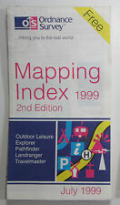 Old vintage OS Ordnance Survey Mapping Index July 1999 - 2nd Edition