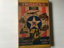 Jaymar 1940's Midgies Complete Miniature Mobile Army Rare larger Set In Box