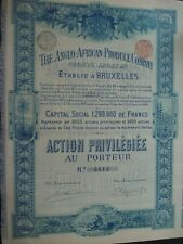 BELLE ACTION BELGIQUE THE ANGLO AFRICAN PRODUCE COMPANY  1898