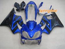 Injection Blue Black ABS Fairing for Honda 2004-2007 CBR600 F4I 2005 2006 e13