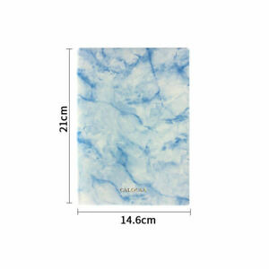 Very Thick Marble Notebook Ruled Paper Leather Cover A5, 720 Lined Pages Journal