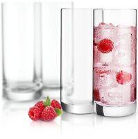 JoyJolt Stella Lead Free Crystal Highball Glass Set of 4, 14.2 Oz Tumblers