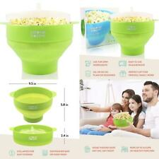 Colonel Popper Microwave Popcorn Maker - Silicone Hot Air Green