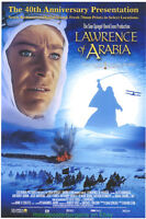 LAWRENCE OF ARABIA MOVIE POSTER DS 27x40 PETER O'TOOLE 40TH ANN. R2002 ORIGINAL