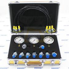 NEW Hydraulic Pressure Gauges Kit, Upgraded Version Excavator Hydraulic Test Kit