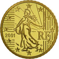 [#462075] France, 50 Euro Cent, 2001, BE, Laiton, KM:1287