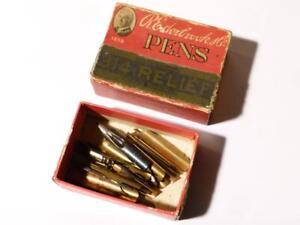 Antique Box of R. Esterbrook Co. DIP INK Pen Nibs 314 Relief MIXED NIBS #2