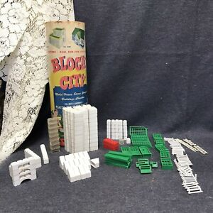 Rare Block City Plastic Building Block Set In Original Box The Beverly Hills