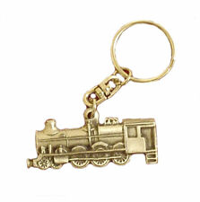 English Pewter Steam Train Handcrafted Keyring in Pouch MADE in UK