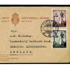 F277 Malaysia Reply Postal Stationery 1957  {samwells}