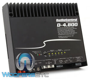 AUDIOCONTROL D-4.800 CAR 4-CHANNEL 800W RMS AMPLIFIER DSP MATRIX PROCESSING NEW