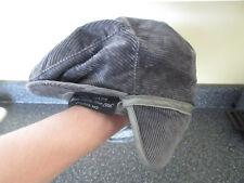 179e2b1f194 VTG Thinsulate Gray Grey Cabbie Newsboy Corduroy Winter Hat Cap Medium USA  Made