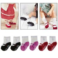 2x Newborn Cute Cotton Shoes Floor Socks Boots Anti-slip Unisex Baby Girls Boy