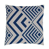 NEW SCATTER CUSHION Blue Arrow Print Nautical Outdoor Indoor Large 40x40cm