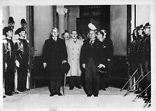 CHANCELIER SCHUSCHNIGG ET MUSSOLINI ROME 1934 COPYRIGHT TRAMPUS