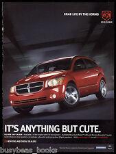 2007 DODGE CALIBER advertisement, red Dodge Caliber sedan