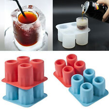 Cup Shape Ice Mold Soft Silicone Frozen Ice Tube Mould Party&Bar Ice Cubes Tray