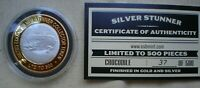 1 OZ  SILVER STUNNER TOKEN CROCODILE LIM ED  37  OF 500 GOLD & SILVER