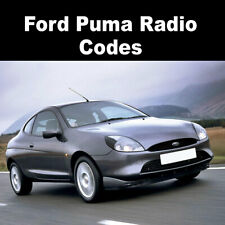 Ford Puma Radio Code Stereo Codes Pin Car Unlock Fast Service 6000cd, V Series