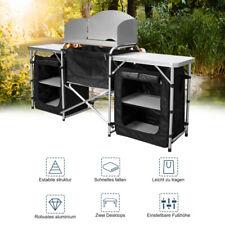 Campingküche Windschutz Alu Kochen Spritzschutz Faltschrank Camping