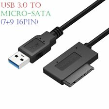 USB 3.0 to Micro-SATA (7+9 16Pin) Adapter Cable for 1.8inch HDD SSD Converter