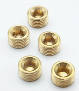 """1/4"""" Male BSP Hex Socket Brass End Cap Plug Fitting Coupler Connector Adapter"""