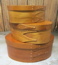 THREE (3) HAND MADE ORLEANS CARPENTERS SHAKER-STYLE WOODEN PANTRY BOXES