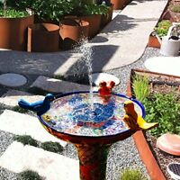 Bird Bath Fountain Kit 1.4W Solar Powered Floating Water Pump for Pond Pool