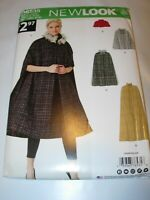 WOMENS UNCUT SIMPLICITY A6535 Sewing Pattern CAPE CAPELET WINTER SIZE XS-XL